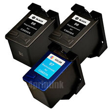 3 Pack 56 C6656AN, 57 C6657AN Ink For HP PSC 2410 2510 2210 2175 2110 1350