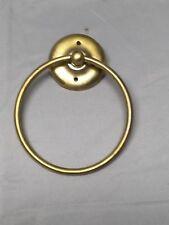 Vintage Brass Swiveling Hoop Loop Ring Towel Bar Bath Kitchen Fixture 583-17E