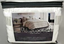Vera Wang Home Pucker Grid King Duvet Cover & Shams Set White
