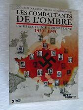 DVD   LES COMBATTANTS DE L'OMBRE , LA RESISTANCE EUROPÉENNE 1939-1945
