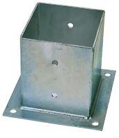Staffa di Fissaggio Scarpa  Acciaio Zincato 71x71x150 mm Per Pali Impregnati