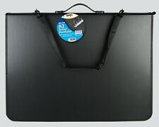 Deluxe A2 Artist Portfolio/Zip/Ring Binder/Handle/Pocket/Shoulder Strap/Student