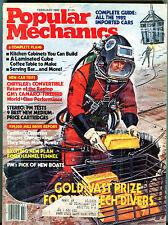 Popular Mechanics Magazine February 1982 Gold High-Tech Divers EX 040116jhe