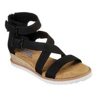 Skechers Women's   BOBS Desert Kiss Mountain Princess Strappy Sandal Black Size