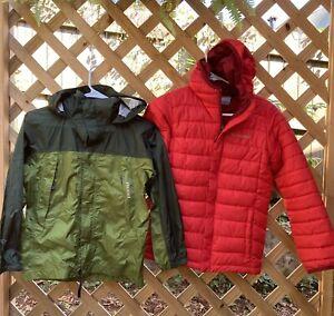 marmot kids jacket Rain Hiking & Columbia Winter Puffer Jacket Coat Lot Size M