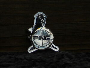 Ping Logo Ball Marker and Hat Clip Gold Plated- Special Buy