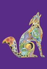 New Large Toland Flag Totem Animal Spirits Howling Wolf 28 x 40 Made In Usa