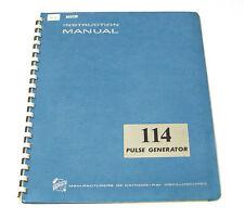 Tektronix Handbuch für 114 Pulse Generator, Instructions and Service Manual