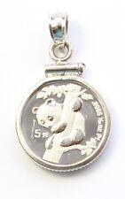 1996 China 1/20 oz Platinum Panda Necklace Pendant Charm