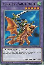 YU-GI-OH CARD: ALLIGATOR'S SWORD DRAGON - LDK2-ENJ43 1ST EDITION