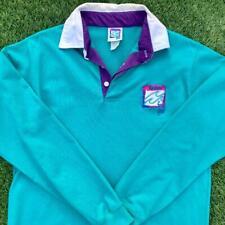 New listing Rare VTG 90s Salem Cigarette Teal Green Fresh Gear L/S Rugby Polo Shirt L