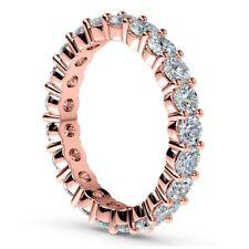 Eternity Diamond Band 3 Carat Round Cut H/SI1 Anniversary Ring 14K Rose Gold
