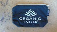 Freeset Cosmetics/Makeup/Pencil Pouch Bag Black/White Zipper NEW Organic India