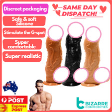 34x8 CM Huge Dildo Extreme Big Realistic Dildo Suction Cup Thick Silicone Penis