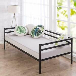 Zinus Premium Black Metal Frame Single Daybed Sofa Day Bed Steel Slat Support