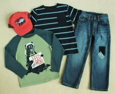 Boys Gymboree Camp Yosemite Bear Green Shirt Knee Patch Jeans Cap Hat 4 4T