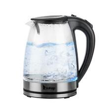 ZOKOP Wasserkocher 1,8L 2200W Edelstahl LED Beleuchtung Kabelloss Glas