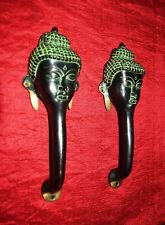 Brass Door Handle Buddha Shape Antique Vintage Style Handmade Knob PullRJ3