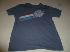 Star Wars Millenium Falcon Shirt Size Large Graphic Tee Blue Mad Engine Retro >>