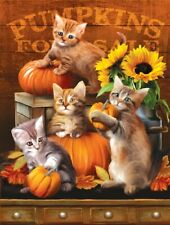 Jigsaw Puzzle Animal Cat Autumn Kittens Halloween 300 pieces NEW made in USA