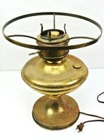 Large Antique Metal Electric Lamp - FREE US SHIPPING