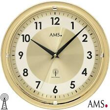AMS 41 Wall Clock RC with Aluminium Dial Radio Controlled Office MINERAL GLASS