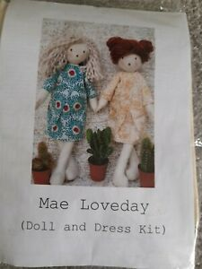 CoolCrafting Mae Loveday Doll kit to make ragdoll and dress