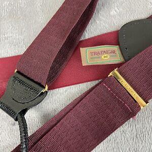 Trafalgar Burgundy Slik Suspenders Trouser Braces