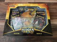 IN HAND * SEALED Pokemon Sun & Moon 11.5 Hidden Fates Raichu-GX Box