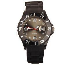 ESTILO UNISEX SILICONA GOMA JELLY Reloj de pulsera fecha para Adulto Niños Niñas