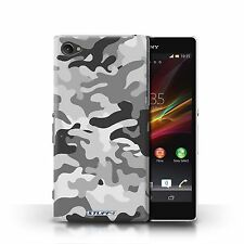 Stuff4 Phone Case/back Cover for Sony Xperia Z1 Compact /camouflage Army Navy White 1