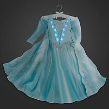 DISNEY STORE COSTUME LIGHT UP ELSA FROZEN PRINCESS DRESS Size 10