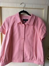 NWOT Talbots Peach Short-Sleeved 100% Cotton Lined Jacket in Size 16 WP
