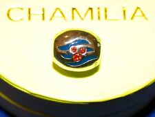 DISNEY DCL CRUISE LINE CHAMILIA BEAD mickey LOGO CHARM STERLING .925