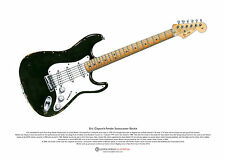 Eric Clapton's Fender Stratocaster 'Blackie' ART POSTER A3 size