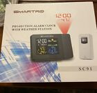 SMARTRO+SC91+Wireless+Projection+Alarm+Clock+for+Bedrooms+with+Weather+Station+-
