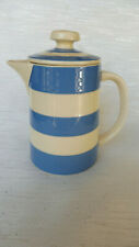 Vintage T.G. Green Cornish Ware Blue and White Lidded Coffee Pot C1980's