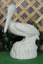 American Great White Pelican Water Bird On Log Latex Fiberglass Mold Concrete