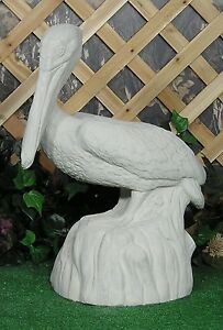 1211 American Great White Pelican Water Bird Latex Fiberglass Mold Concrete