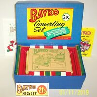 A MADE UP VINTAGE c.1956 BAYKO BUILDING CONVERTING SET 2X BOXED V.GOOD CONDITION