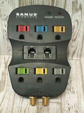Sanus Elements ELM201-B1 6 Outlet Surge Protector Cable Phone Electric