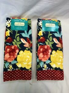 """The Pioneer Woman Fiona Floral Kitchen Towels 16""""x28"""", 2x4-Piece(8 Total)"""