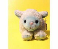 "1998 Puffkins Lamb Sheep Bluebelle White Blue Plush 4"" Stuffed Animal Toy"