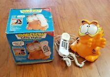 RARE VINTAGE GARFIELD TALKING TELEPHONE – TYCO – 1990S – ORIGINAL BOX!