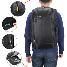 "Laptop Backpack Waterproof +USB Port Reflective Strap Anti-Theft 17.3"" Laptop"