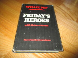 HOFer WILLIE PEP remembers ...FRIDAY'S HEROES 1973 Boxing Book