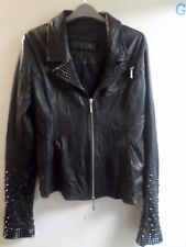 Jaded By Knight Studded Leather Jacket Size M rrp £2500 LF170 EE 03