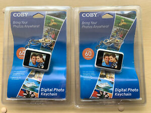 Lot Of (2) Brand New!!! Coby 1.5-Inch Digital Photo Key Chain Black DP151