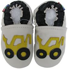 carozoo forklift cream 3-4t C1 soft sole leather toddler boy shoes