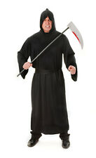 Black Robe Halloween #Grim Reaper Fancy Dress Adult One Size Outfit